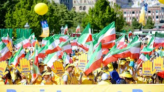 Thousands of MEK supporters march in Stockholm for a Free Iran - July 20, 2019