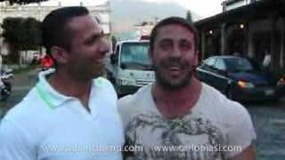 Adam Champ y Carlo Masi en Antigua Guatemala