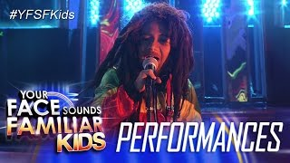 Your Face Sounds Familiar Kids: Justin Alva as Bob Marley - Waiting In Vain