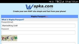 How To Create Account At Wapka.Mobi or Wapka.CoM IN Hindi