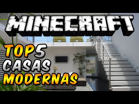 Minecraft Top 5 Casas Modernas Episodio 11