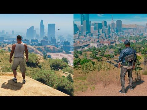 Watch Dogs 2 VS GTA V | COMPARISON | Comparativa