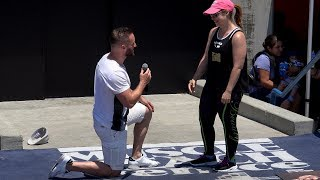 Muscle Beach Marriage Proposal Surprise