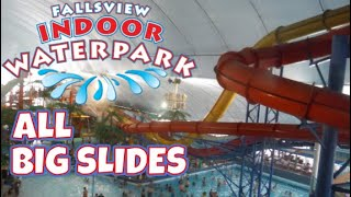 ALL BIG SLIDES FALLSVIEW INDOOR WATERPARK| Niagara Falls Waterpark