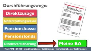 Betriebliche Altersvorsorge Tübingen Reutlingen bAV Gehaltsumwandlung mit staatlicher Förderung