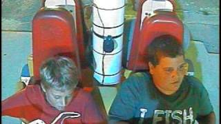 Kid scared to death on an amusement ride in Tennessee! Very funny!