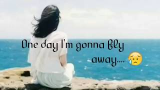 One day I'm gonna fly away song   whatsapp status   with lyrics ❤❤❤