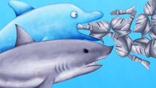 GREAT WHITE SHARK vs DOLPHIN EATING CONTEST - Tasty Blue Bonus Levels   Pungence