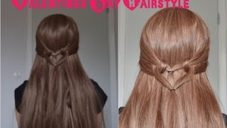 How to create Accent Hearts | Valentines Day Hairstyles ПРИЧЕСКИ на день Святого Валентина