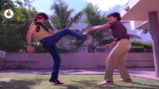 Arjun Sarja And Bhanu Chander Fight Scene || Terror Telugu Movie Scenes