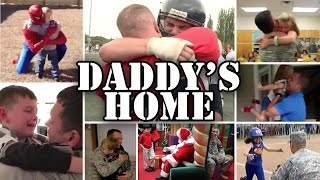 Daddy's Home - Compilation of Emotional Military Homecoming Surprises