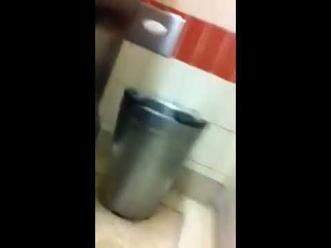 Strangled in public toilet