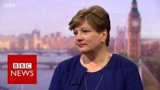Emily Thornberry on NHS, Brexit and Trump (Andrew Marr Show) BBC News