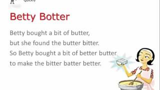 Betty Botter (quickly) Tongue Twister