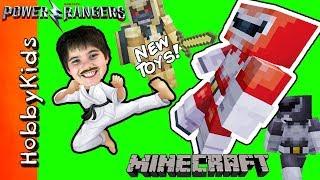 NEW POWER RANGER MOVIE TOYS! Minecraft Power Rangers Attack HobbyKarate + Surprise Toys HobbyKidsTV
