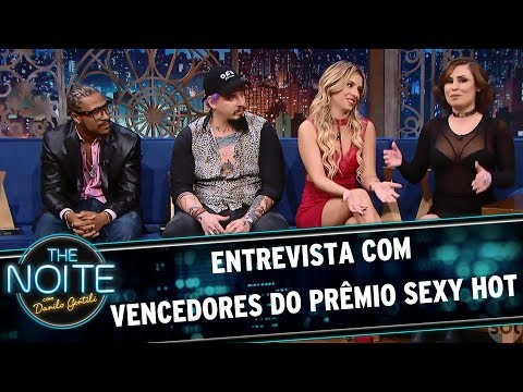 Entrevista com Vencedores do Prêmio Sexy Hot The Noite 19 06 17