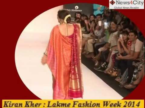 Xxx Mp4 Kiran Kher On Lakme Fashion Week 2014 3gp Sex