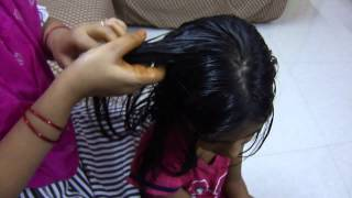 Oil massage for healthy hair growth