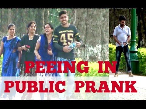 PEEING IN PUBLIC PRANK || GONE WORNG ||