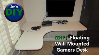 Floating Wall Mounted Corner Desk DIY