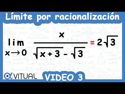 Límite indeterminado 0/0 por racionalización ejemplo 3