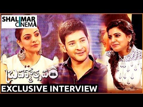 Samantha Funny Interview with Mahesh Babu and Kajal Aggarwal ||  Brahmotsavam Movie || Mahesh Babu