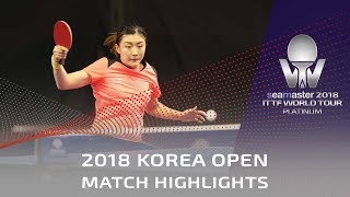 Chen Meng vs Cheng I Ching   2018 Korea Open Highlights (1/4)