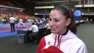 Introducing ELENA QUIRICI, finalist in #EuroKarate2018 and truly passionate about the sport