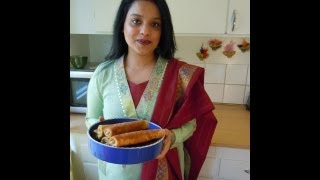 Mixed veg & mince meat rolls recipe (episode 27) ruptush Diner - Online Bengali Cooking Show