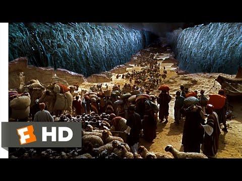 Moses Parts the Sea - The Ten Commandments (610) Movie CLIP (1956) HD