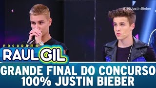 Programa Raul Gil (10/12/16) - Grande final do Concurso 100% Justin Bieber