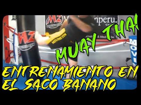 Instruccional de Muay Thai o Boxeo Tailandes Como patear el Saco Banano Nivel Básico