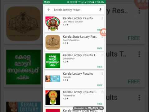 Kerala lottery today results And Guessing Number Watch
