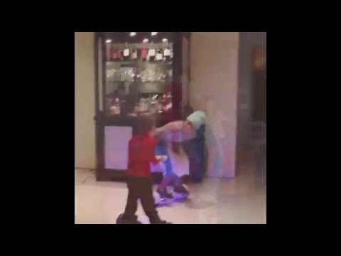 Justin Bieber on Hoverboard with wheels with his brother and sister