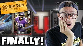 PACKING A GOLDEN TICKET CARD!? WE FINALLY DID IT!! Madden Packed Out