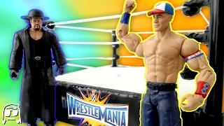 WWE Wrestlemania 33 John Cena vs Undertaker Toys R Us Exclusive Network Ring Playset Review!!