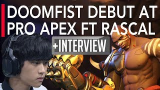Overwatch Gameplay - Doomfist Debut at Pro APEX ft Rascal - Kongdoo Panthera VS Uncia | OGN APEX S4