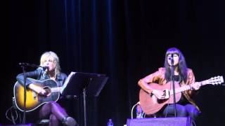 Lucinda Williams and Alynda Segarra perform Woody Guthrie's song I Ain't Got No Home In This World