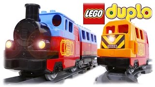 LEGO Duplo Train, 10507 + 10508 Trains COMPILATION Video for Children and Kids