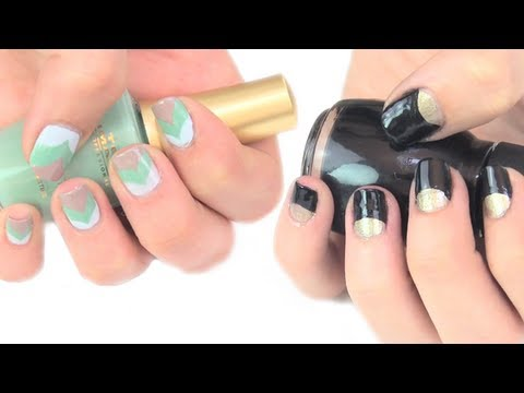 Pintado de uñas con adhesivos