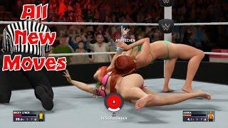 Bikini Divas preform ALL New Moves | WWE 2K17 Gameplay | WWE 2K17 New Moves Pack