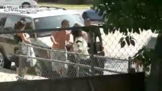 East Los Angeles Neighborhood Gang members Dukeing it Out