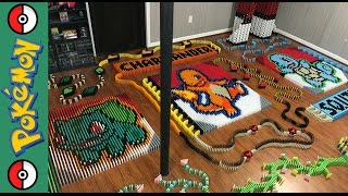 "Kanto Starters ""Pokemon of the Month In 14,146 Dominoes"""
