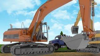 การ์ตูน 3D ภารกิจช่วยเหลือย้ายบ่อปลา ของเหล่ารถก่อสร้าง รถดัมพ์ รถแม็คโคร