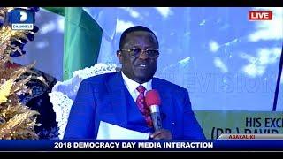 Ebonyi State Governor Holds Democracy Day Executive Media Chat Pt.2