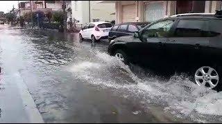 Forte temporale, strade come fiumi acqua 22 giugno 2018 Rimini e Riccione