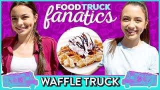 ICE CREAM WAFFLE CHALLENGE | Food Truck Fanatics w/ the Merrell Twins