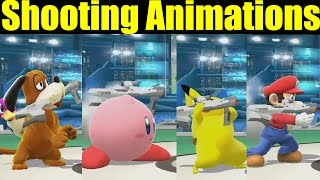 All Shooting Animations in Super Smash Bros Wii U (FAN REQUESTED VIDEO)