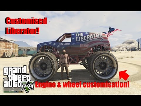 (GTA 5) How to customize the liberator monster truck (WITHOUT MODS)