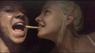 MINE AND TANA'S FIRST KISS